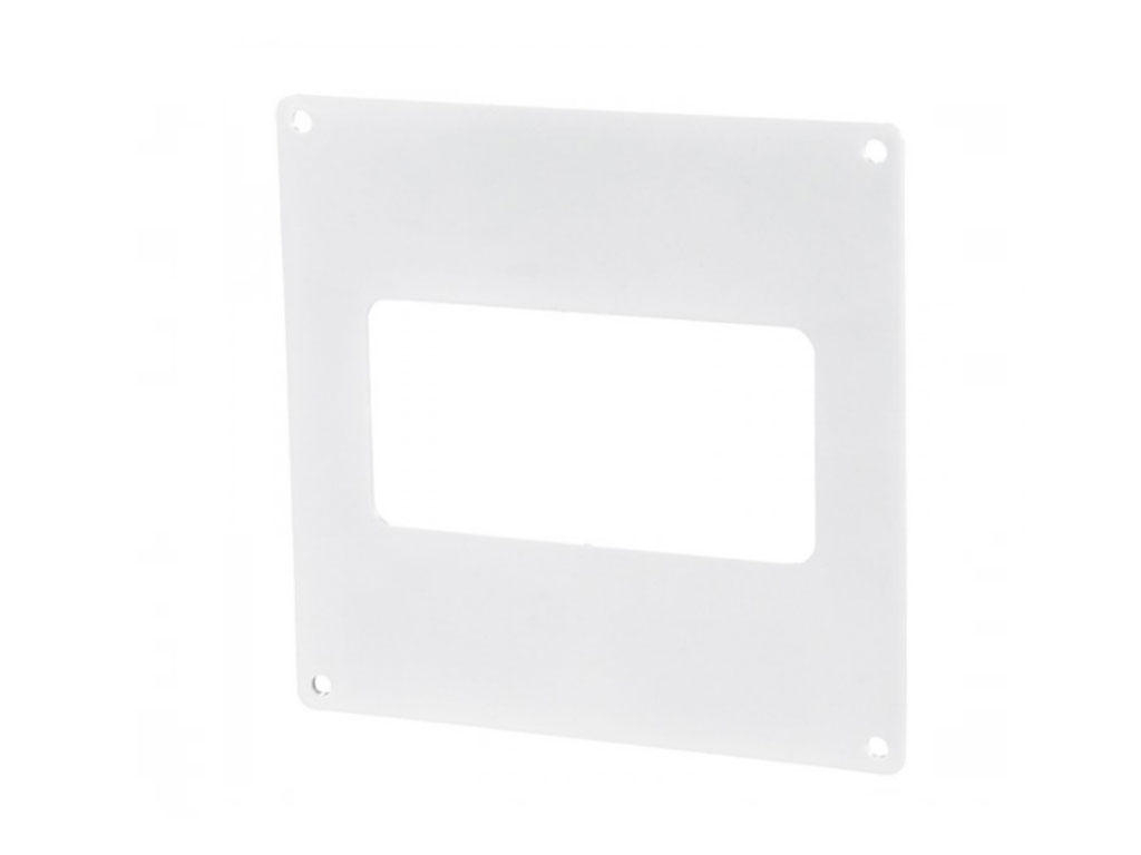 Rectangular ducting wall plate