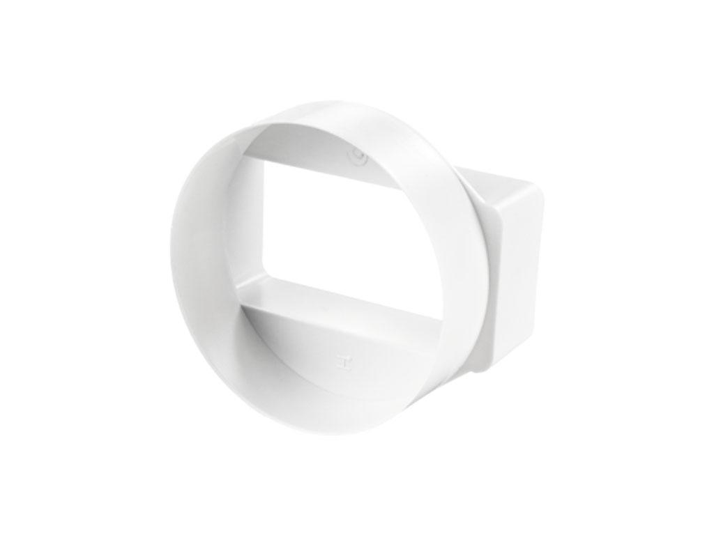 short round to rectangular adaptor
